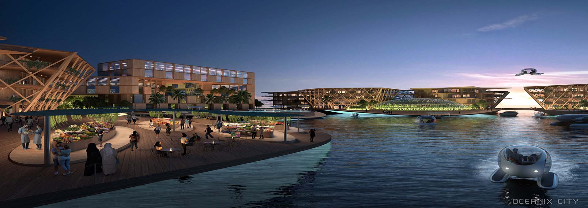 Danish architects, Bjarke Ingels Group's Oceanix City.