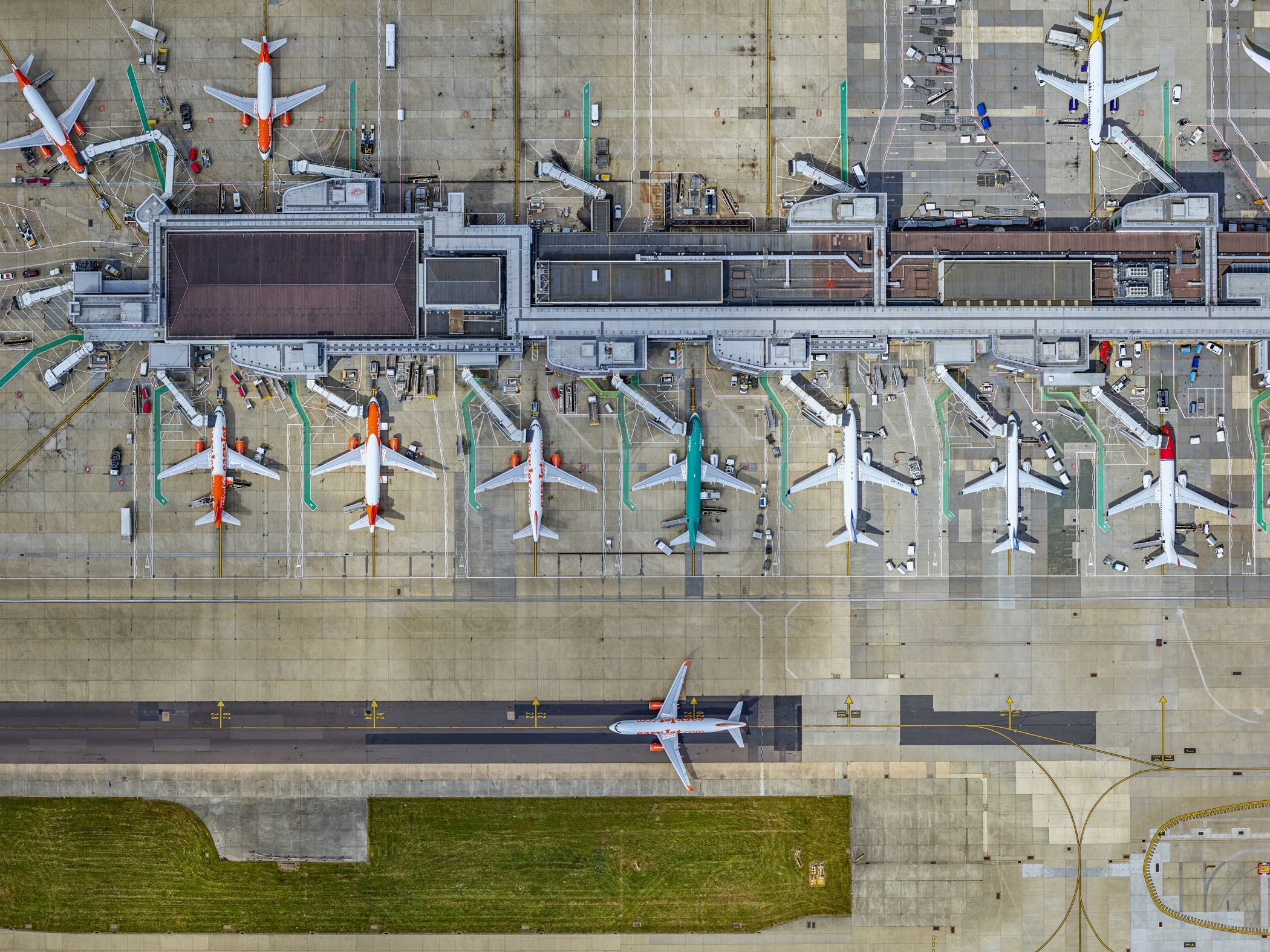 Gatwick Airport, London. Credit: J Milstein