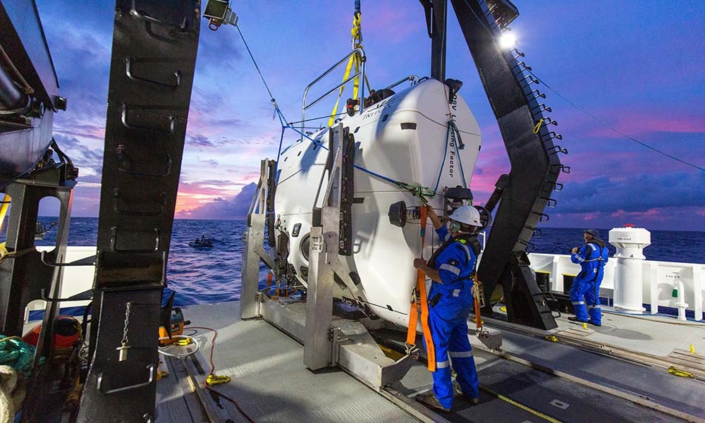The Triton 36,000/2 'Limiting Factor', the only submersible ever to be certified to go to unlimited ocean depth